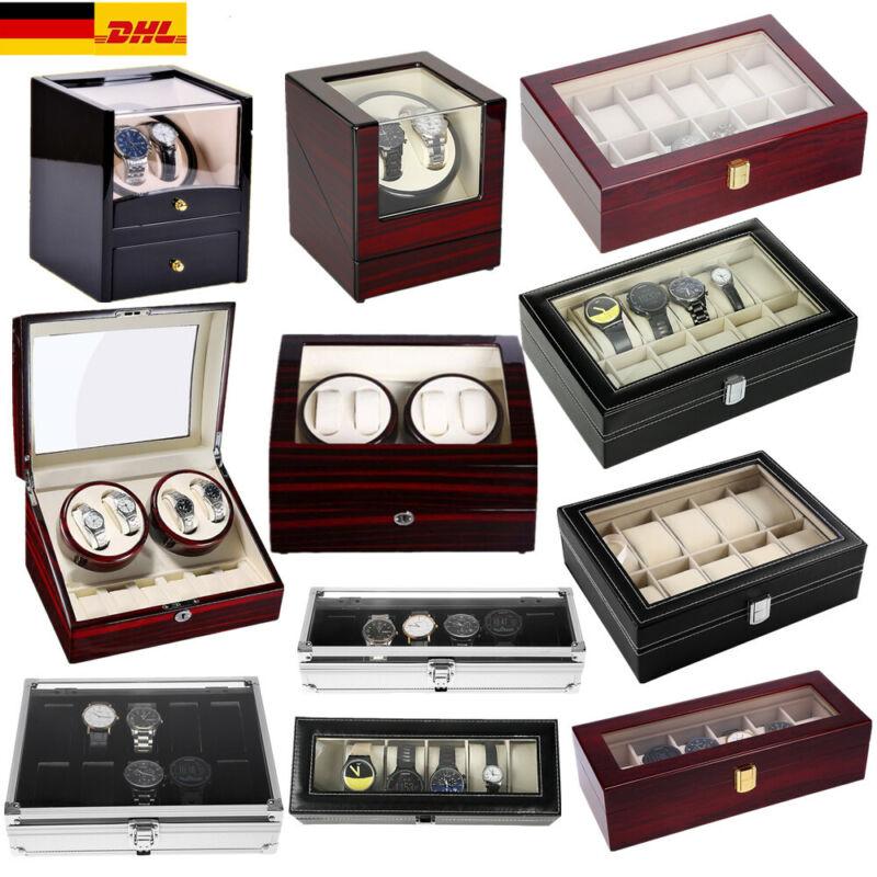 Uhrenbeweger watchwinder Uhrenkoffer Uhrenbox für 2 bis 24 Uhren Box EU Adapter