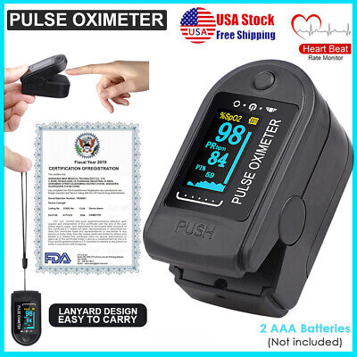 Fda Fingertip Pulse Oximeter Spo2 Pr Blood Oxygen Meter Heart Rate Monitor Usa