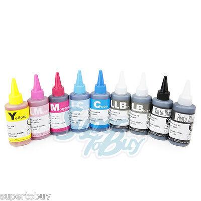 Cisinks 9 Pack Compatible Dye Ink Refill Bottles For Epso...