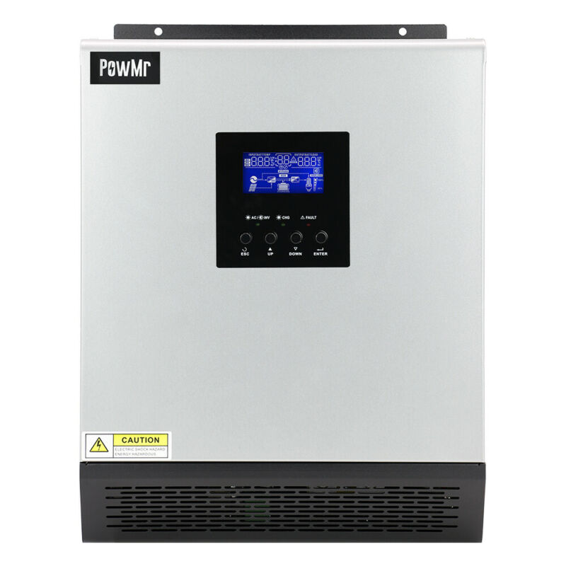Powmr 3KVA Solar Inverter Buit-in 50A Charge Controller DC24V AC110V US Stock