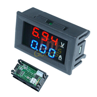 Dc 100v 100a Voltmeter Ammeter Blue Red Led Display Dual Digital Volt Amp
