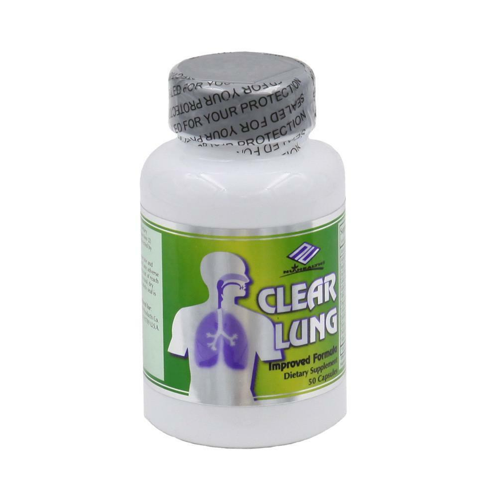NuHealth Clear Lung, Lung Cleansing Formula, 50 Capsules, FRESH FREE US SHIPPING