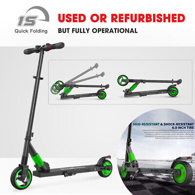 USED Folding Electric Scooter Aluminum Portable E-Scooter For Adult/Teens -GREEN