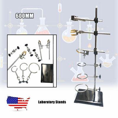 60cm Laboratory Stands Support Labclamp Flask Clamp Condenser Platform Us