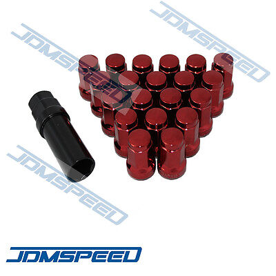 Red JDMSPEED Heptagon STEEL JDM LUG NUTS Tuner 12x1.5 For HONDA Acura EG EK DC2 ()