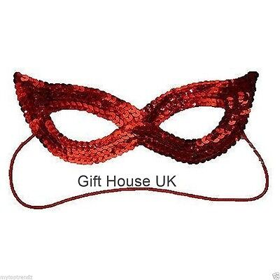 Red Sequin Eye Mask Masquerade Cat Women Girls Kids Mask For Party Fancy Dress ](Catwoman Mask For Kids)