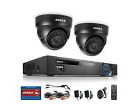 ANNKE 4CH AHD H.264 DVR HD 960P 1.3MP Outdoor IR CCTV Camera Security System *BOXED* good to go