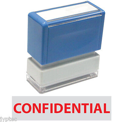 Confidential Ink Stamp - Confidential - JYP PA1040 Pre-Inked Rubber Stamp Red Ink
