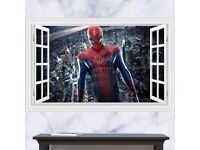 3D Windows Spider Man wall sticker, BRAND NEW, 90 x 60cm