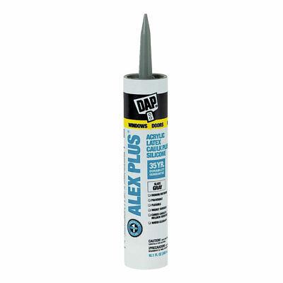 Dap 18110 Acrylic Latex Caulk With Silicone 10.1-ounce Slate Gray