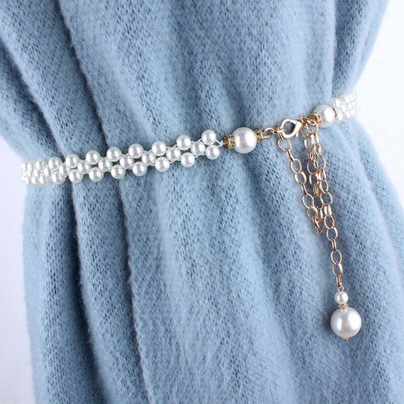 Womens Fashion Elegant Rhinestone Chain Belt