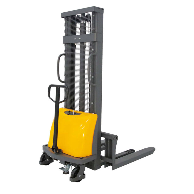 "Sovans Electric Walkie Pallet Stacker Lift 3300lbs Capacity 118"" Lifting Height"