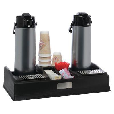 Hubert Airpot Coffee Dispenser Stand For 2 Airpots Black Plastic
