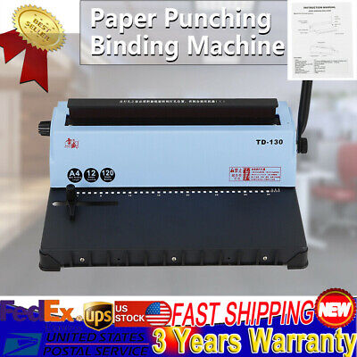 Spiral Coil Calendar Binding 34 Square Holes Punching Binding Machine Best
