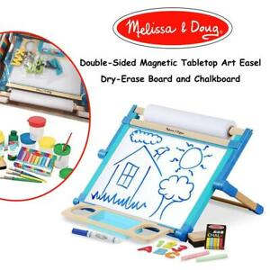 NEW Melissa  Doug Double-Sided Magnetic Tabletop Art Easel - Dry-Erase Board and Chalkboard Condtion: New