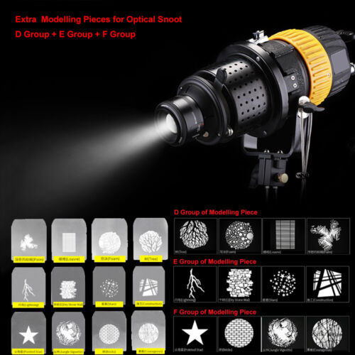 Focalized Optical Snoot Extra Modelling Pieces for Multiple Lighting Effects