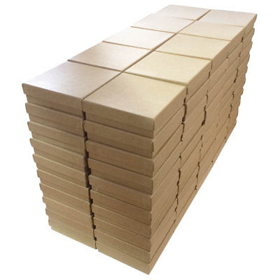 """3.5"""" x 3.5"""" x 1"""" Cotton Filled Jewelry Display Packaging Boxes ~ 100, 200, 500"""