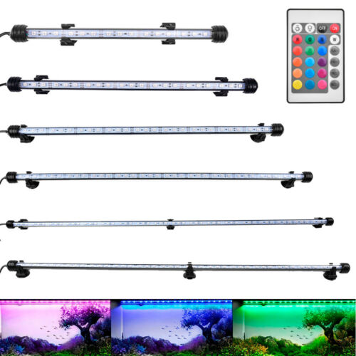 RGB Aquarium Lampe LED Mondlicht Aquarium Beleuchtung Fischlicht 28-92cm IP6828/38/48/62/72/92 CM✅ RGB mit Fernbedienung✅ EU Stecker
