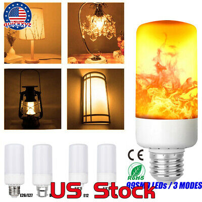 Flickering Flame Light Bulbs Decorative E26/E27 B22 E12 E14 Halloween Party - Halloween Flickering Light Bulbs