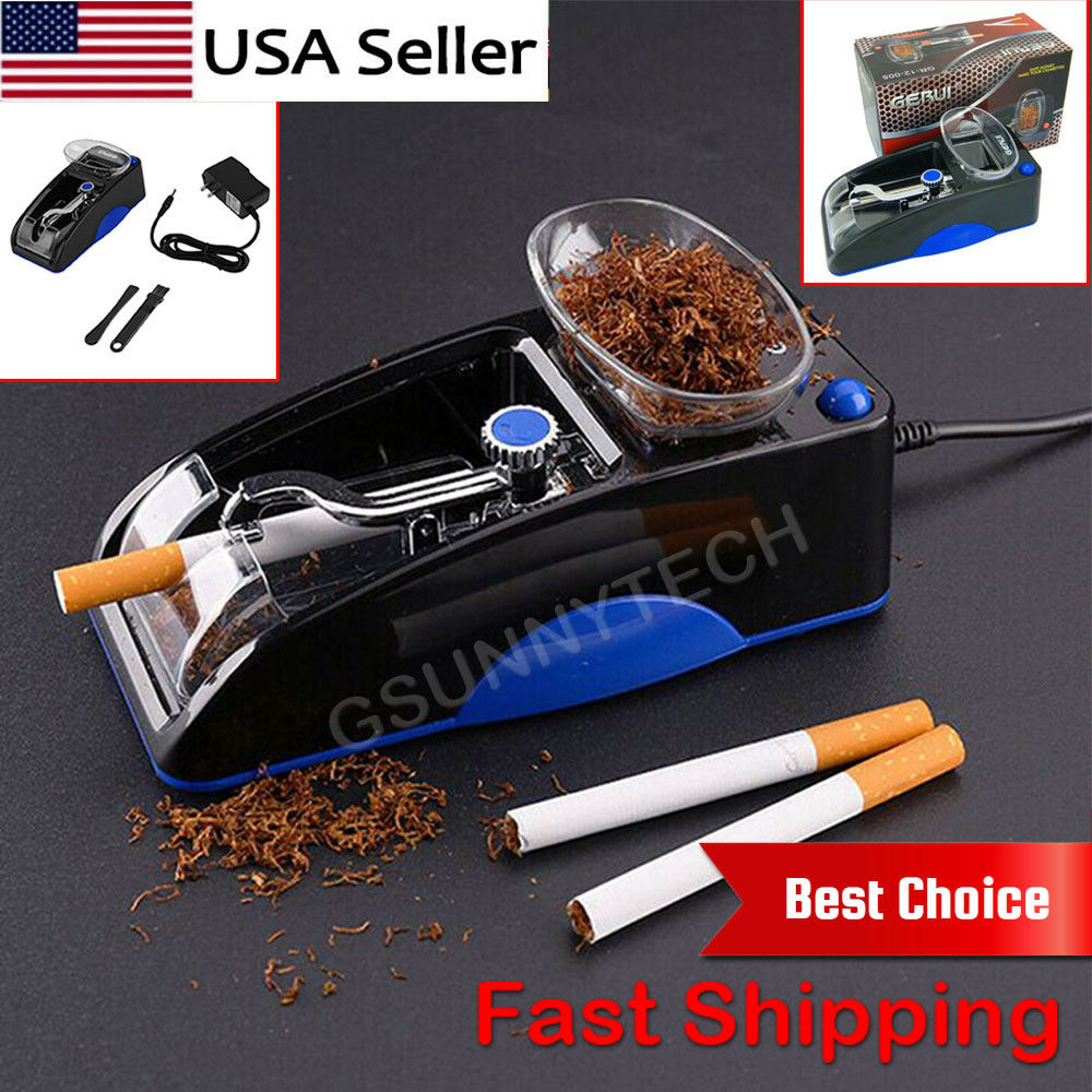 Купить Cigarette Rolling Machine Electric Automatic Injector Maker Tobacco Roller Blue