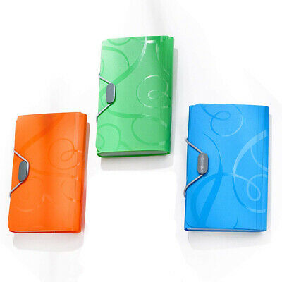 3 Color Document File Folder Bag Case Bills Receipts Pouch Card Holder Organizer