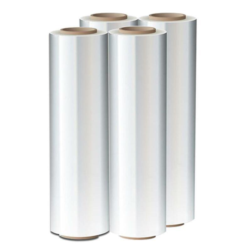 "4 Rolls 18"" x 1500FT 80GA Pallet Wrap Stretch Film Shrink Hand Wrap"