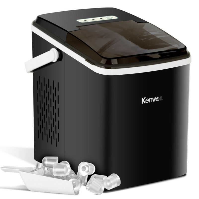Portable Electric Ice Maker Countertop Ice Compact Machine 26lbs Ice/Day Black