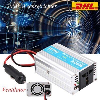 200W DC 12V zu AC 220V Auto Power Inverter Converter USB Ladegerät Adapter USB Ac Power Inverter Ladegerät