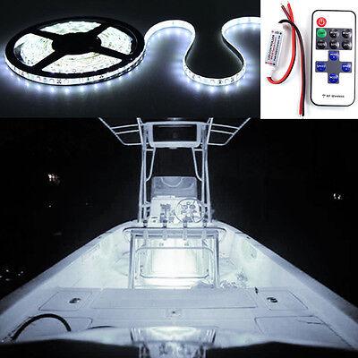 Wireless Waterproof Led Strip Light 16Ft For Boat   Truck   Car  Suv   Rv White