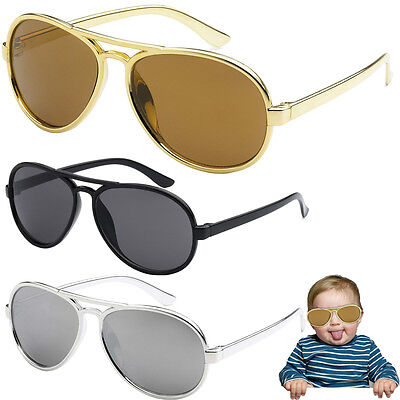 Funny Bro Swag Baby Toddler Boys TOP GUN GOLD AVIATOR SUNGLASSES AGES 0 - 3 (Infant Sunglasses 0 6 Months)