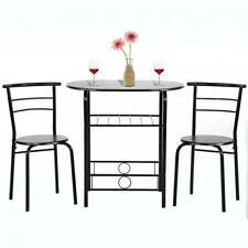 Dining Kitchen Table Dining Set,3 Piece Metal Frame Bar Dining Room Tabla