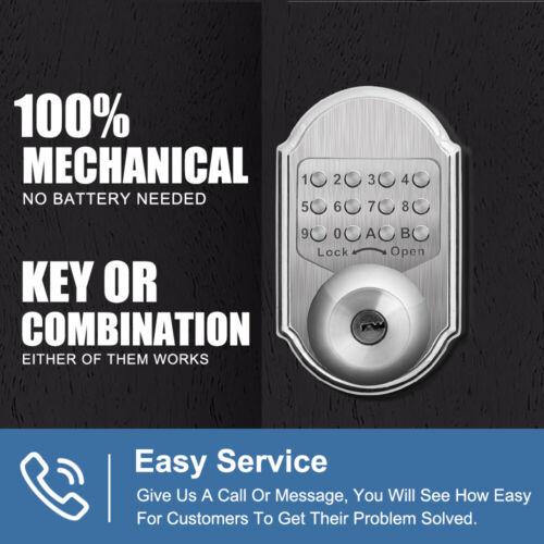 Mechanical Door Lock Keyless Entry Exterior Combination Digi