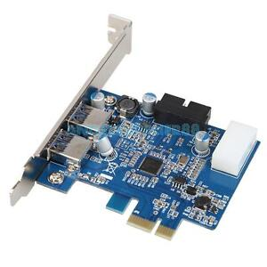 A#S0 USB 3.0 2-port 19-pin Header PCI-E Card 4-pin IDE Power Connector