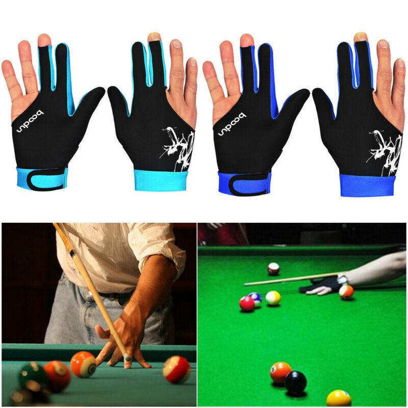Snooker Pool Billiard Glove Cue Shooter Spandex 3 Finger Glove Left Right Handed