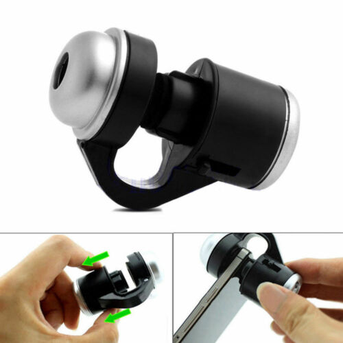 30X Zoom Clip-on Microscope Magnifier Micro Lens for iPhone 7 7 Plus Samsung~