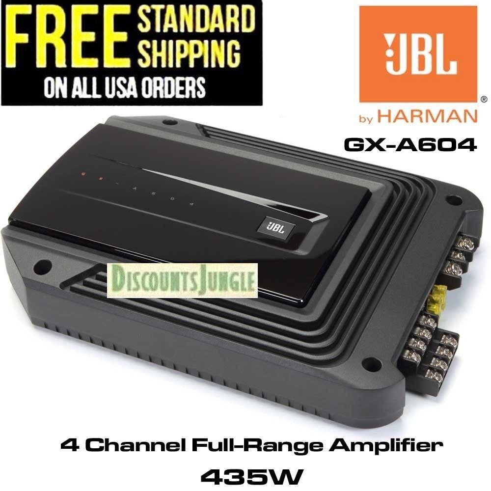 JBL GX-A604 AMPLIFER 4 CHANNEL 435W MAX POWER high Bass EQ C