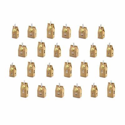 Calendario dell'avvento con 24 casa casetta in carta KRAFT natale 0TW0