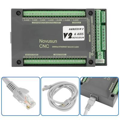 Nvem Cnc Controller 6axis Mach3 Ethernet Interface Motion Control Card Board New