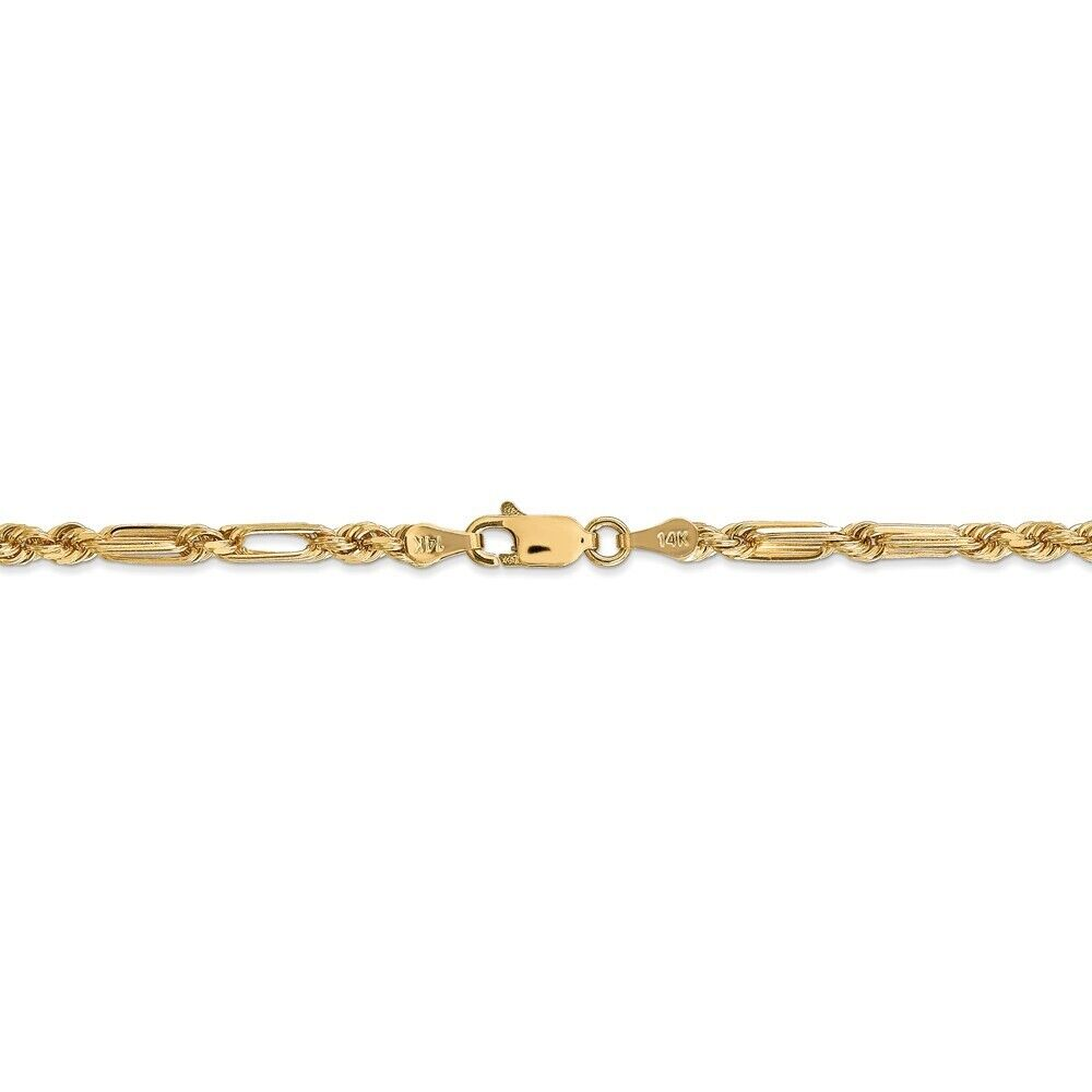 """14K 24/"""" Inch 1mm Solid Rose Gold Diamond Cut Milano Rope Necklace Chain"""