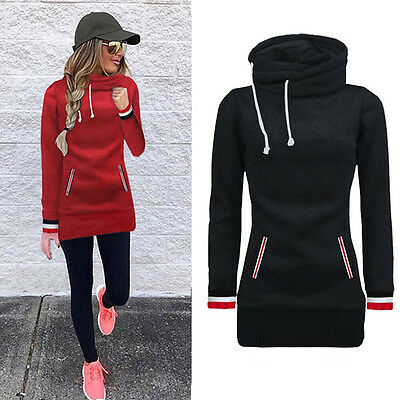Women's Hooded Hoodies Sweatshirt Casual Loose Tops Pullover Blouse Plus Size
