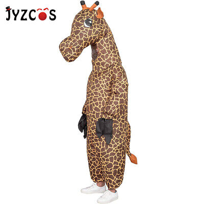 Men Animal Costumes (Inflatable Giraffe Costume Men Halloween Costume Carnival Party Animal Cosplay)