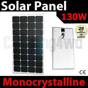 130w solar Panel caravan power battery charger 12v mono generator Wangara Wanneroo Area Preview