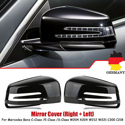 Spiegelkappe Abdeckung Gehäuse Für Mercedes-Benz W204 C207 W212 W221 Schwarz