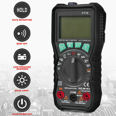 Digital Multimeter Auto Range Ac Dc Voltmeter Amp Ohm Volt Tester Multi Meter