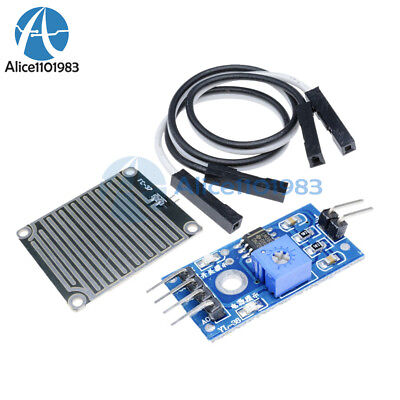 5pcs Raindrops Detection Sensor Modue Rain Weather Module Humidity For Arduino