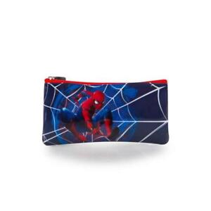 Marvel Spiderman Basic Pencil Case for Kids - 4 Inch Boys Pencil Pouch [Blue]