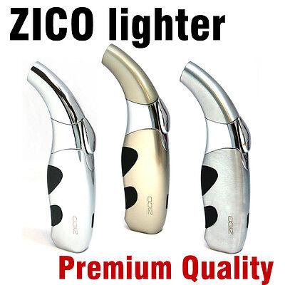 ZICO Ergonomic Cigarette & Cigar Butane Torch Lighter (1pc) Assorted Color.