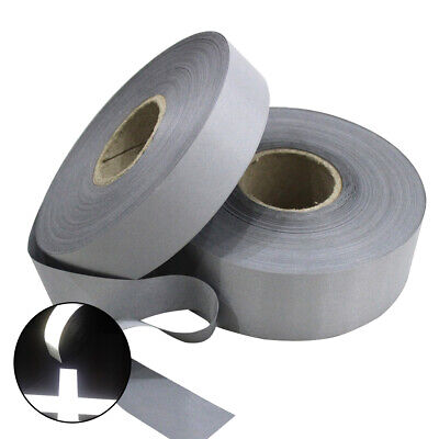 High Visibility Reflective Sew On Tape Strip 253050mm Silver On Fabric Trim