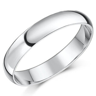 Palladium Wedding Band 4mm Ladies Men's Unisex Ring Heavy Weight D Shaped Ring D-shaped Band Wedding Ring