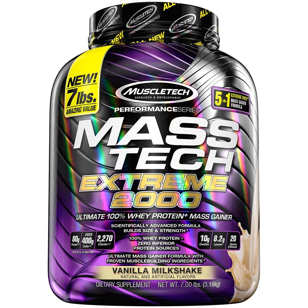 MuscleTech MASS-TECH Extreme 2000 Muscle Mass Gainer Protein